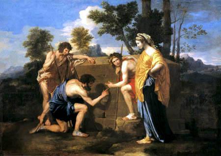 Nicolas Poussin - Et in Arcadia ego II., Hirten in Arkadien
