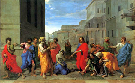 Nicolas Poussin - Christ and the adulterer