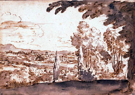 Nicolas Poussin - View of Rome from the Monte Mario