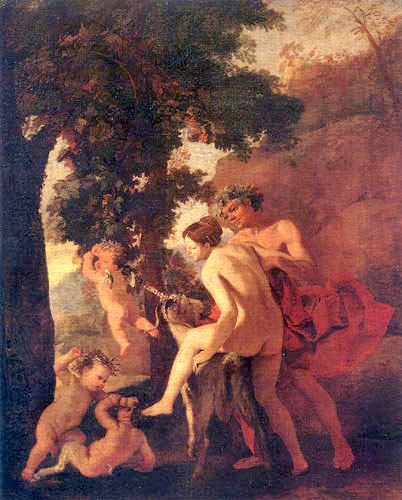 Nicolas Poussin - Venus, a Faun and Puttis