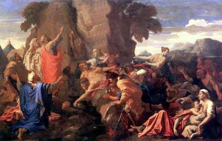 Nicolas Poussin - Moses striking the rock