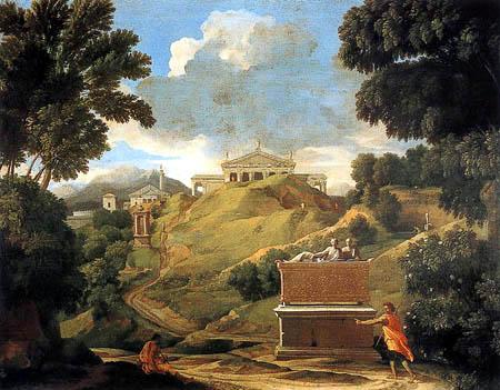 Nicolas Poussin - Landschaft mit Ruinen