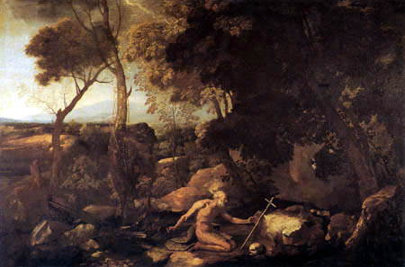 Nicolas Poussin - Landscape with St. Hieronymus