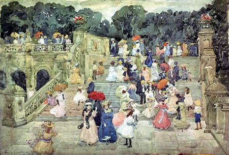 Maurice Brazil Prendergast - The Mall, Central Park