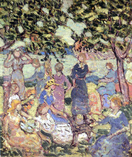 Maurice Brazil Prendergast - Picnic by the Inlet