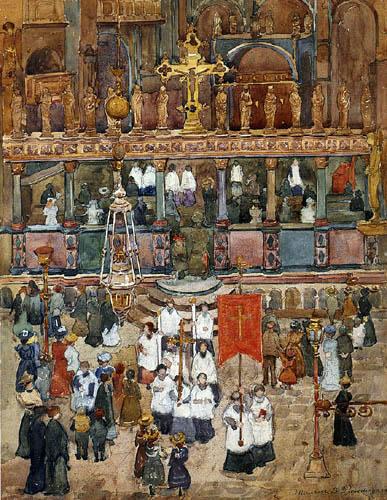 Maurice Brazil Prendergast - Procession de Pâques, St. Marks