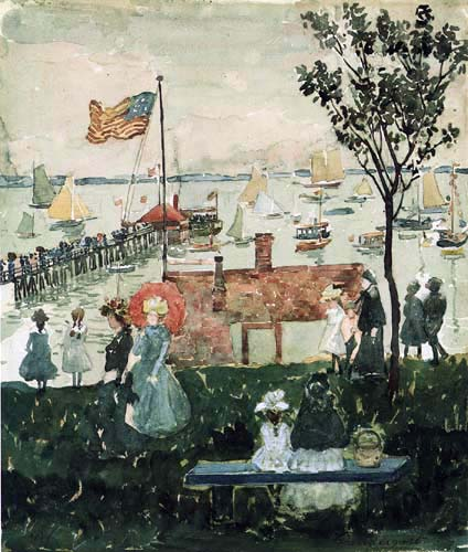 Maurice Brazil Prendergast - Excursionists, Nahant