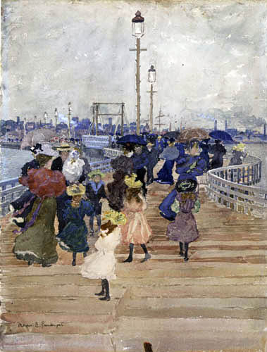 Maurice Brazil Prendergast - South Boston, Pier