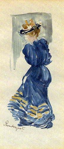 Maurice Brazil Prendergast - Frau in Blau