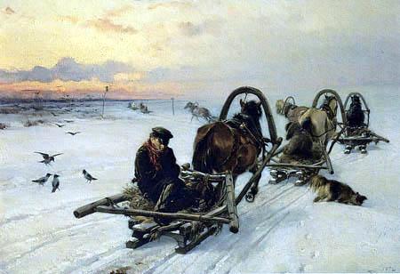 Illarion Prjanischnikow - Montar en la aldea
