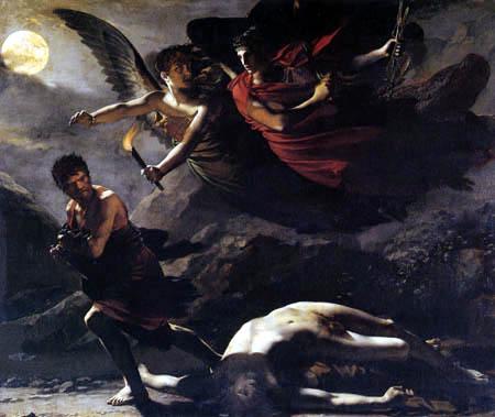 Pierre-Paul Prud´hon - Gerechtigkeit und göttliche Rache, die Verbrechen ausüben