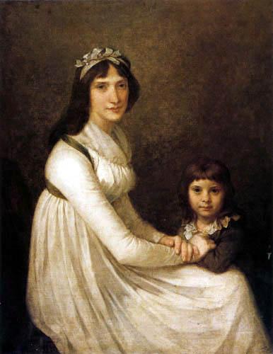Pierre-Paul Prud´hon - Portrait einer Frau mit ihrem Kind