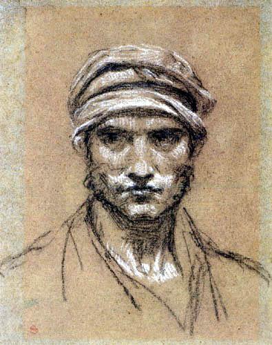 Pierre-Paul Prud´hon - Kopf eines Mannes mit Turban