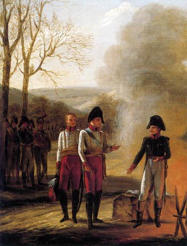 Pierre-Paul Prud´hon - Die Unterredung von Napoleon und Francois II, Austerlitz