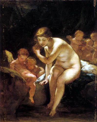 Pierre-Paul Prud´hon - Venus im Bad, Skizze