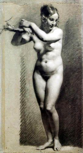 Pierre-Paul Prud´hon - Nackte Frau, stehend