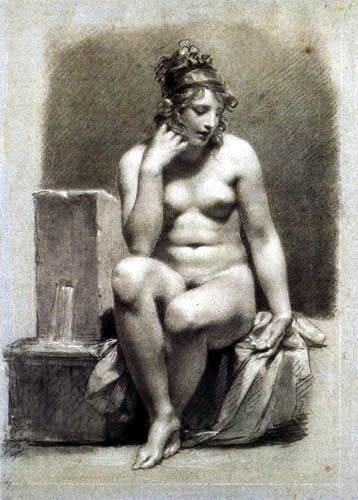 Pierre-Paul Prud´hon - Nackte Frau, sitzend