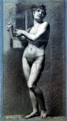 Pierre-Paul Prud´hon - Femme nue, La Poésia
