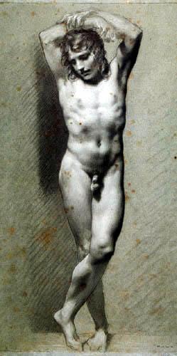 Pierre-Paul Prud´hon - Nackter junger Mann