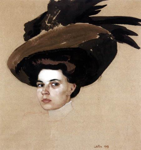 Leo Putz - Portrait of Gusti Bennat