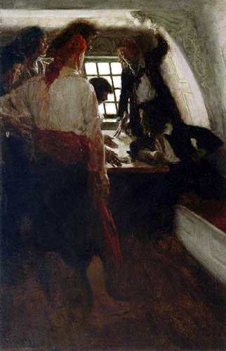 Howard Pyle - The cabin of the treasure seekers