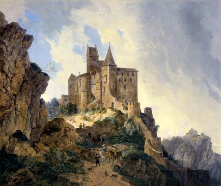 Domenico Quaglio - Burg Kipfenberg im Altmühltal