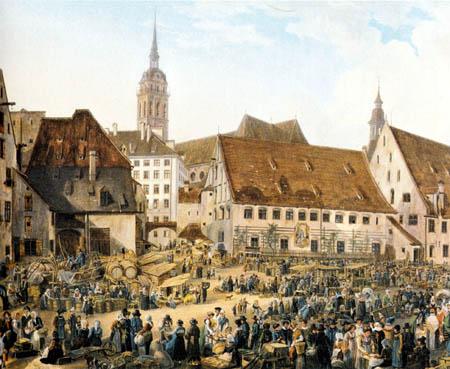 Domenico Quaglio - Viktualienmarkt