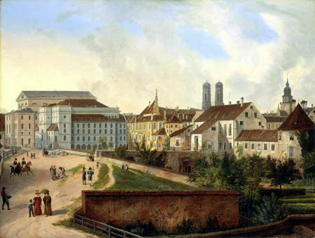 Domenico Quaglio - Das Hoftheater in München