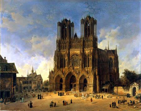 Domenico Quaglio - The Cathedral of Reims