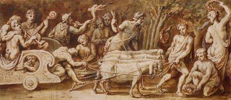 Erasmus Quellinus - A chariotry of musicians