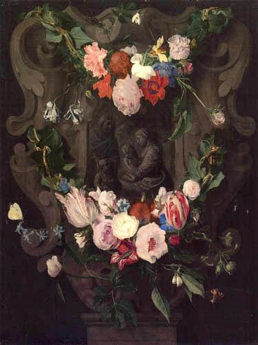 Erasmus Quellinus - Garland of Flowers