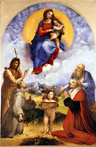 Raffaelo Raphael (Sanzio da Urbino) - Madonna di Foligno
