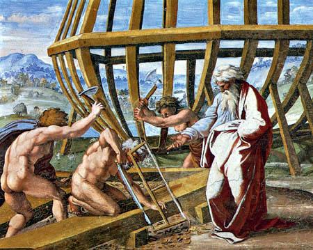 Raffaelo Raphael (Sanzio da Urbino) - The Building of the Ark