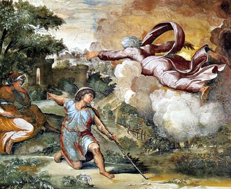 Raffaelo Raphael (Sanzio da Urbino) - God appears to Isaac
