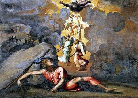 Raffaelo Raphael (Sanzio da Urbino) - The dream of Jakob