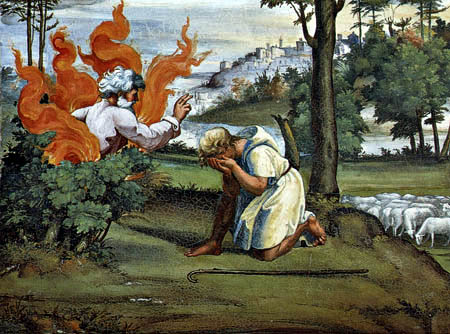 Raffaelo Raphael (Sanzio da Urbino) - The Burning Thorn Shrubs