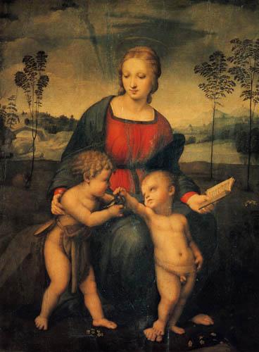Raffaelo Raphael (Sanzio da Urbino) - The Madonna with the goldfinch