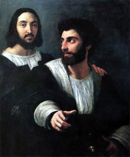 Raffaelo Raphael (Sanzio da Urbino) - Selfportrait with a friend