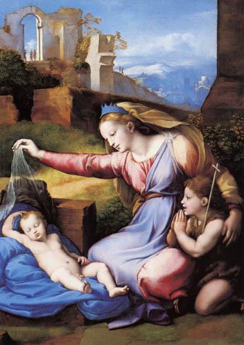 Raffaelo Raphael (Sanzio da Urbino) - Madonna with veil