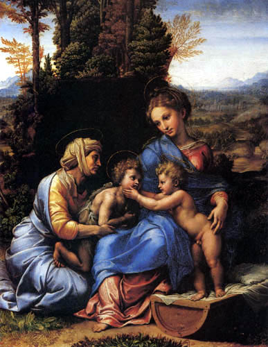Raffaelo Raphael (Sanzio da Urbino) - The little holy family