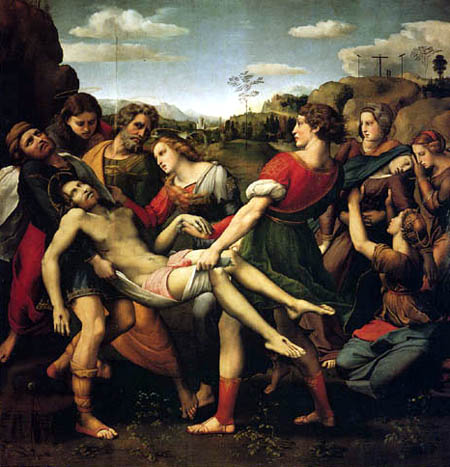 Raffaelo Raphael (Sanzio da Urbino) - The Entombment of Christ