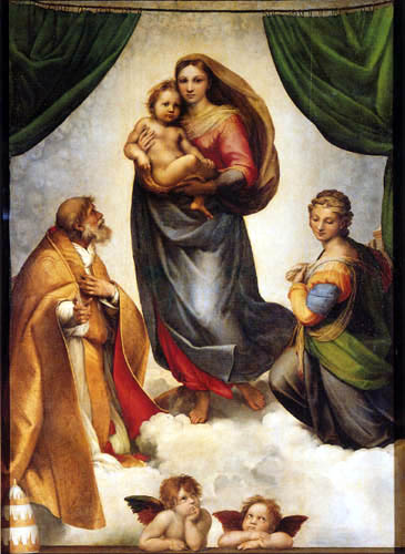 Raffaelo Raphael (Sanzio da Urbino) - The Sistine Madonna