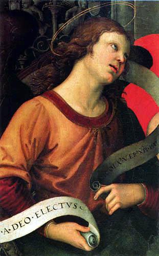 Raffaelo Raphael (Sanzio da Urbino) - Angel, Detail