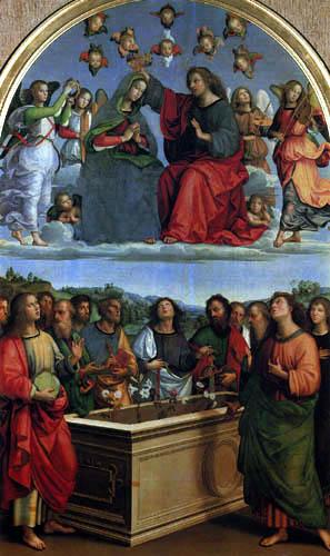 Raffaelo Raphael (Sanzio da Urbino) - Coronation of the Virgin