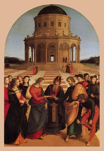 Raffaelo Raphael (Sanzio da Urbino) - Vermählung Mariens