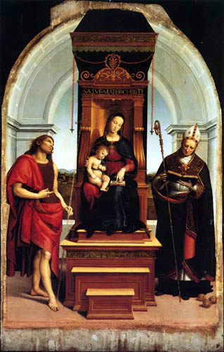 Raffaelo Raphael (Sanzio da Urbino) - Madonna Ansidei