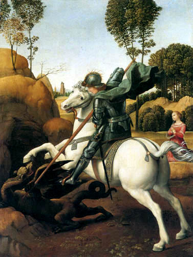 Raffaelo Raphael (Sanzio da Urbino) - Saint George slaying the dragon