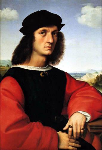 Raffaelo Raphael (Sanzio da Urbino) - Portrait of Angelo Doni