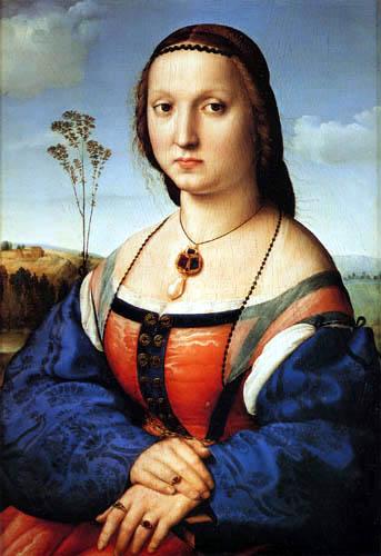 Raffaelo Raphael (Sanzio da Urbino) - Maddalena Doni