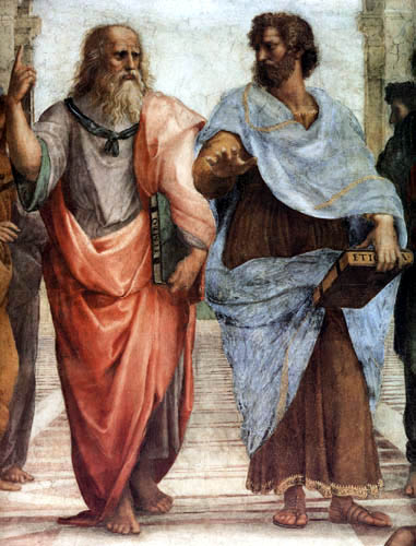 Raffaelo Raphael (Sanzio da Urbino) - The school of Athens, detail